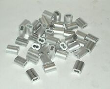 1/16 ALUMINUM CABLE DOUBLE FERRULES 100 snare Trapping ferrule sleeves USA MADE