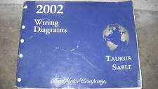 2002 FORD TAURUS MERCURY SABLE Electrical Wiring Diagram Service Shop Manual OEM