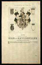 JEAN BARON DE KEVENHULLER et FRANCISCO DE SANTAPAU 1667