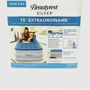 Beautyrest Silver Extraordinaire Raised Air Mattress with iFlex -Size - Twin