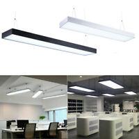 120cm/90cm LED Pendel Leuchte Deckenlampe Büro Hängeleuchte Kronleuchter 48W/60W