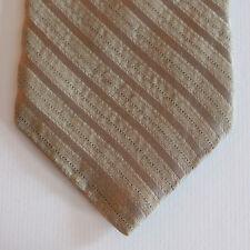 """NEW 61"""" Calvin Klein Silk Neck Tie Stone Beige w Solid & Black Dot Stripes 1638"""