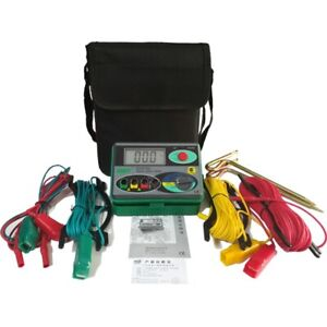 Digital Earth Ground Resistance Meter Tester Earth Tester 0~20/200/2000Ω Ohm