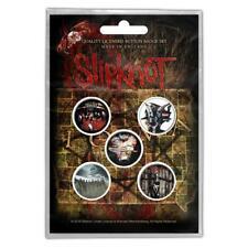 More details for official licensed - slipknot - albums 5 badge pack metal corey iowa