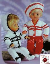 Knitting Pattern Copy DOLLS CLOTHES PREM BABY HOODED SUIT BERET DK Tiny Tears