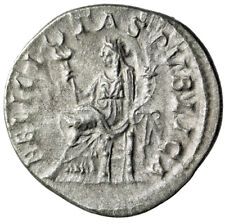"Julia Mamaea (Mother Severus Alexander"" AR Denarius ""Felicitas Seated"" Rome gVF"
