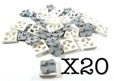 Lego 20) Turntable 2 x 2 Plate Complete Assembly with Light Bluish Gray Top NEW