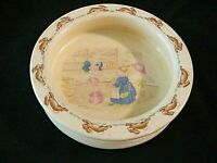 Antique Royal Doulton Bunnykins Piggly's Store Childs Bowl England 1936