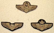 USAF Air Force Small Officer Aircrew Wings Badge Insignia Silver Bullion Set