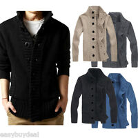 2018 Fashion New Mens Casual Sweater Cardigan Knitted Coat Jacket Thick Knitwear