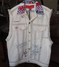 NEW Tommy Hilfiger Collection Denim Studded Vest Womens 4 Embriodered Flag $890