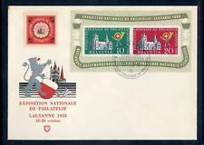 Svizzera bl.15 gioielli-lettera vignette SST Losanna me 120,- + + (137004)