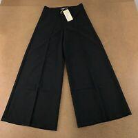 Veteks Line Women's Size 6 Black High Rise Wide Leg Pants NWT