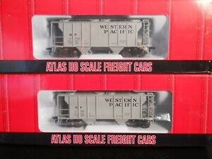 Atlas Western Pacific PS-2 2-Bay Covered Hoppers (TWO) - HO scale NIB RTR