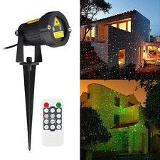 AU Location Outdoor Remote Control Waterproof Red Green Laser Projector Light