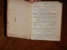 Vincenzo Maria Coronelli Libro antico 700 veneziano, collezione