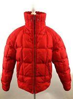 Bogner Women's Vintage Goose Down Ski Jacket Red Puffer Coat Rare Size 40 US 10