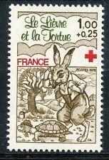 STAMP / TIMBRE FRANCE N° 2024 ** LE LIEVRE ET LA TORTUE FAUNE
