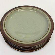"""4 Otagiri SIERRA Stoneware 6 7/8"""" Bread Dessert Plates Japan Handcrafted"""