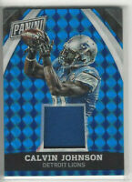 2015 Panini National VIP Blue Prizm Jersey #d 10/25 Calvin Johnson #31 Lions