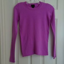 J Crew Womans Lilac Cashmere Long Sleeve Pullover Sweater XXS