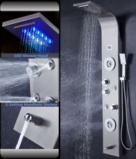 Ello&Allo Stainless Steel Shower Panel Tower LED Rain Waterfall  Massage System