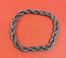 Vintage Sterling Silver Wide Twisted Rope Bracelet 22.6 Grams