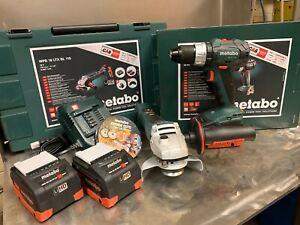 Metabo Cordless Grinder & Hammer Drill 5.5A 8.0A WPB 18 LTX BL 115 / SB 18 LT BL