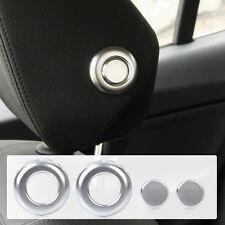 4x Chrome Interior Front Seat Headrest Post trim for BMW F30 F31 F36 3 4 Series