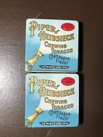 2 Vintage Piper Heidsieck Chewing Tobacco-Champagne Flavor- Tins