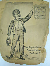 Catarrh Quack Medicine Rare Paper Brochure Antique c1880s Globe CO Terre Haute