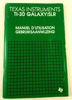 Manuel Calculatrice Vintage Texas Instruments TI 30 Galaxy SLR  Envoi suivi