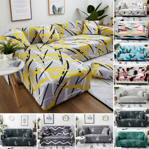 1/2/3/4 Seaters Recliner Non-slip Sofa Covers Elastic Couch L-Shape Slipcovers