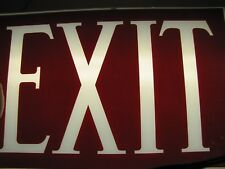 Art Deco EXIT Reverse on Glass Sign Gothic Lettering Theatre Industrial Safety