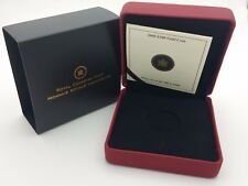 2008 Royal Canadian Mint $100 Gold Coin Anniversary Empty Red Leather Box & COA