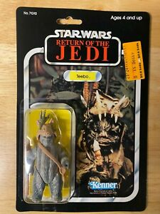 Vintage Star Wars ROTJ Teebo Figure - 1983 Kenner 77-Back - Unopened MOC