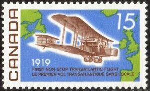 1969 CANADA NON-STOP ATLANTIC FLIGHT 50th ANNIVERSARY 15¢ STAMP, MNH, Scott #494