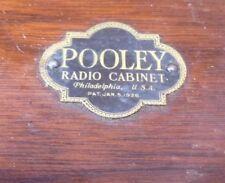 *Horn Only* POOLEY TUBE Radio Cabinet HORN EMBLEM GRILL 1900 1926 VTG Antique