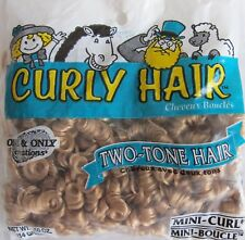 STRAWBERRY & SANDY BLONDE TWO TONE MINI-CURL DOLL HAIR 1/4 POUND 4oz BAG NEW