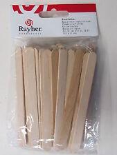 72 Rayher Bastelhölzer, Eisstiele, Spatel, Holzstäbchen natur 110 x 11 mm