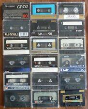 18x MC Musikkassette C90 – Chrome – Gebraucht