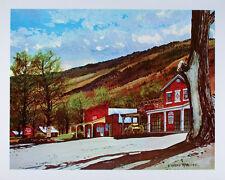 VINTAGE Art Print GENOA Oldest Bar in Nevada OLD WEST Saloon WESTERN Poster MINT
