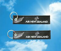 "Air New Zealand ""All Black"" keychain keyring baggage luggage tag"