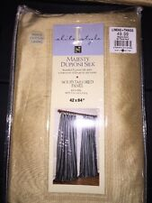 Linens And Things 100%dupioni Silk Gold Panel W/white Lining