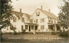 A View Of Woodland Farm, East Jaffrey NH New Hampshire RPPC