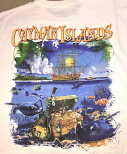 Hard Rock Cafe Cayman Islands 2015 White City Tee T-Shirt 2X New Tag Pirate Ship
