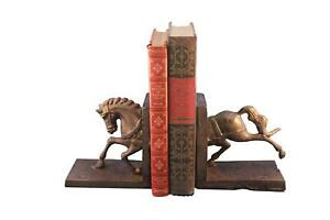 Horse Running Bookends - Metal - Pair - Carousel Style