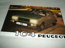 Peugeot 104 range brochure 1980