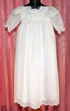 weißes Taufkleid mit Kopfbedeckung ☺ 2-lagig  ☺ *NEU* Knopfleiste im Rücken