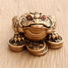 Chinese Feng Shui Lucky Three Legged Money Toad Fortune Frog Home Decor US